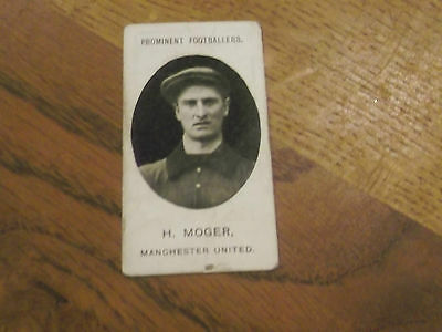 1907 Original Taddy Prominent Footballers Manchester United Player H Moger