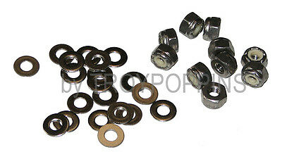 """SS 10-1//4/""""-28 NYLOC LOCK NUTS /& 20-1//4/"""" FLAT WASHERS STAINLESS STEEL 18-8  PARTS"""