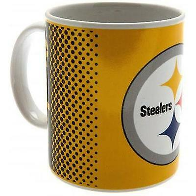 Pittsburgh Steelers - Fade Logo Ceramic Mug - New & Official NFL In Box