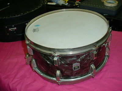 "Nice 1940's  LEEDY  Usa  Elkhart Ind.  14"" Headsize 6 1/2""  Deep  BDP Snare Drum"