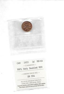 1953 Canada Small Cent  Red Doubled 953 Rare
