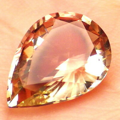 COPPER PINK GREEN OREGON SUNSTONE 3.41Ct FLAWLESS-FOR BEAUTIFUL JEWELRY-VIDEO