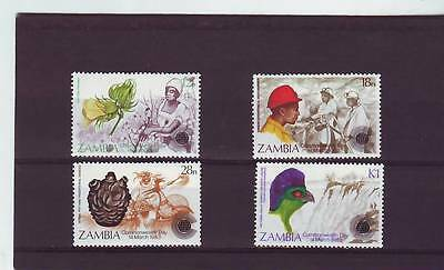 a114 - ZAMBIA - SG379-382 MNH 1983 COMMONWEALTH DAY