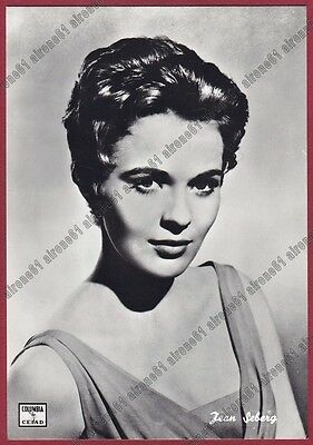 JEAN SEBERG 04 ATTRICE ACTRESS ACTRICE CINEMA MOVIE PEOPLE USA Cartolina FOTOGR.