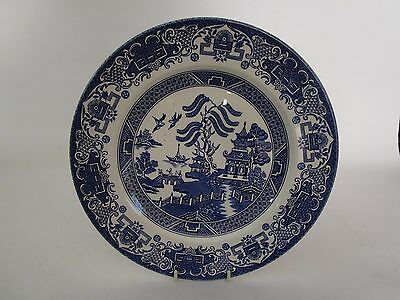 English Ironstone Tableware Old Willow 25cm Dinner Plates