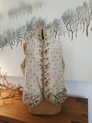 Circa 1770-1800,man'S Ribbed Silk Polychrome Embroidered Waistcoat