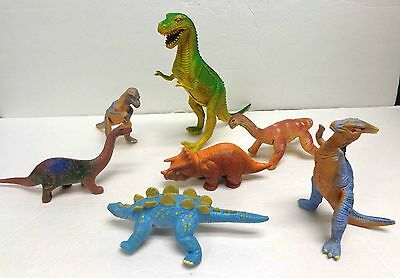 Vintage 1985 Imperial Dinosaur and Six Other Dinosaurs LOT!