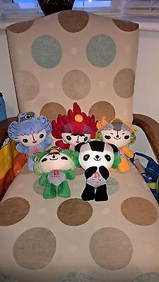 5 Different Beijing 2008 Official Mascot Doll Soft Toys Olympics Games