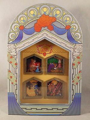 Disney Pin Beauty and the Beast 25 Enchanted Years 4 Four Pin Boxed Set