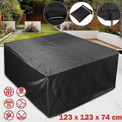 Waterproof Furniture Cube Cover Outdoor Rattan Patio Table Set Protection Garden