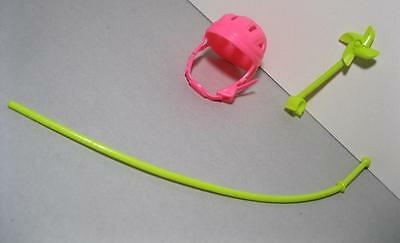 BARBIE doll Bike Bicycle REPLACEMENT PINWHEEL FLAG POLE, HELMET PARTS PIECES