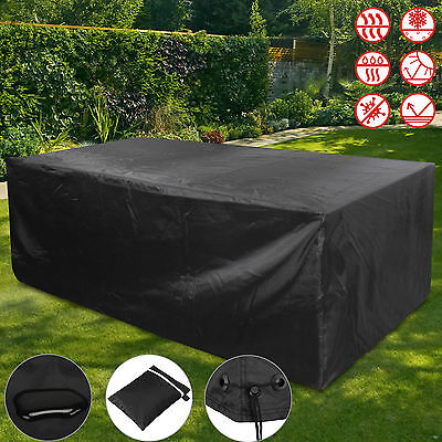 Garden Ratten Furniture Cover Heavy Duty Outdoor Patio Table Set Rain Protection