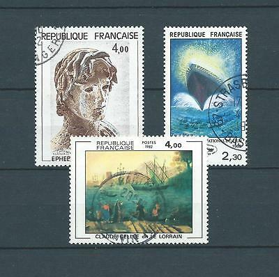 FRANCE TABLEAUX - 1982 YT 2210 à 2212 - TIMBRES OBL. / USED