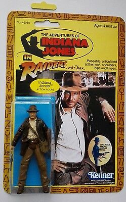 Cool Indiana Jones Action Figure Complete With Vintage Style Kenner Card Back