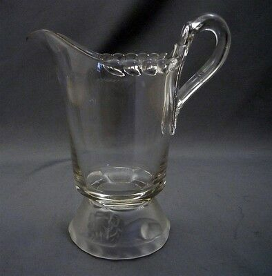 EAPG Frosted Lion Creamer Gillinder & Son Early American Pressed Glass Copy