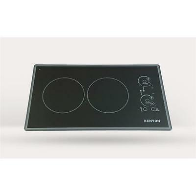 Lite-Touch Q Cortez 2-burner Trimline Cooktop, black with touch control two 6...