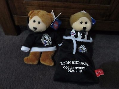BEANIE KIDS....COLLINGWOOD FOOTBALL CLUB...BK-... PAIR with  TAGS ..NEW