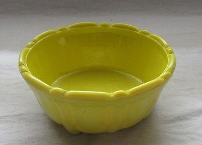 Akro Agate Bright Yellow Cereal Or Soup Bowl Rare