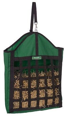 Tough 1 hunter green oversized nylon net front hay tote horse tack equine 72-163