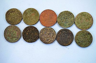 Russian Imperial Copper coins Denga 1730-1762