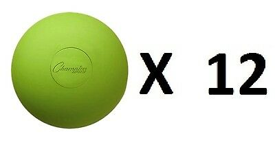 Champion Lacrosse Ball Official NFHS NCAA Massage Therapy-GREEN (12-Pack)