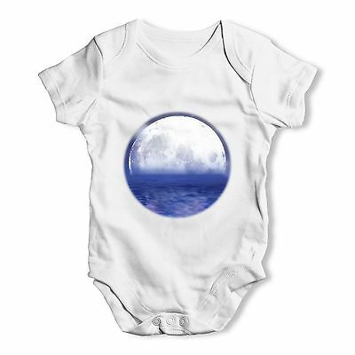 Twisted Envy Ocean Moon Baby Unisex Funny Baby Grow Bodysuit