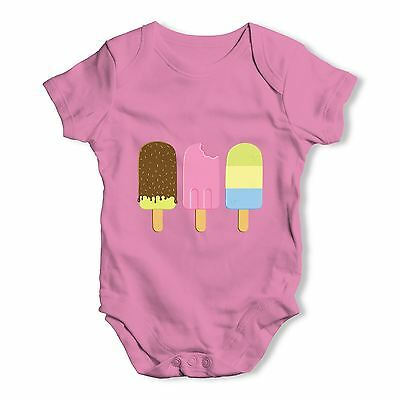 Twisted Envy Little Ice Lollies Baby Unisex Funny Baby Grow Bodysuit