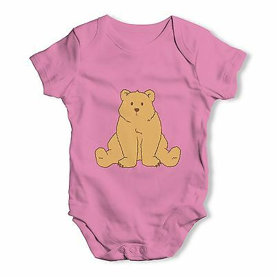 Twisted Envy Puzzled Silly Bear Baby Unisex Funny Baby Grow Bodysuit