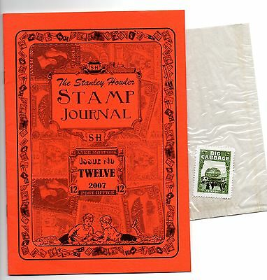 Stanley Howler Stamp Journal Issue 12 with inserts and stamp (11627)