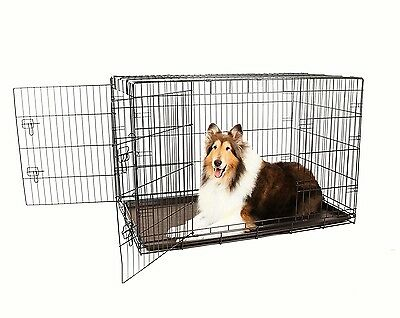 Carlson Secure and Compact Double Door Metal Dog Crate, Extra Large RRP £70.00
