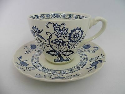 J & G Meakin Blue Nordic Tea Cups And Saucers