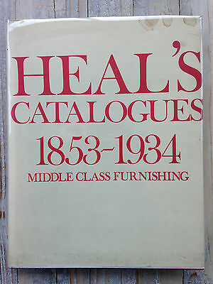 HEAL'S FURNITURE CATALOGUES 1853-1934 David & Charles HB with special Heals DJ