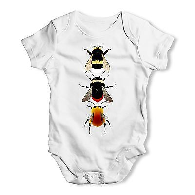 Twisted Envy Species Of Bees Baby Unisex Funny Baby Grow Bodysuit