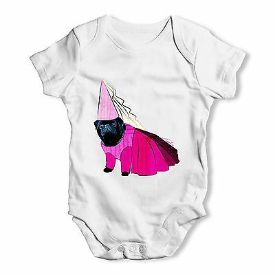 Twisted Envy Princess Pug Baby Unisex Funny Baby Grow Bodysuit