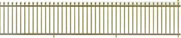 The N Scale Architect 61059 Spear-Point Fence - Kit (Etched Brass)