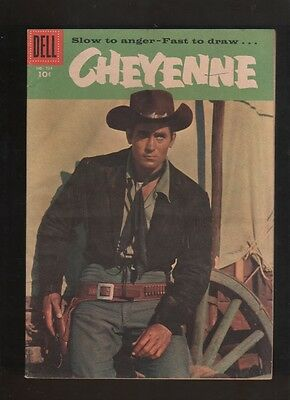 "1956 1st ISSUE ""  CHEYENNE  "" DELL  WESTERN  COMIC BOOK COMPLETE HIGH GRADE"