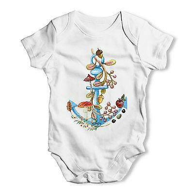 Twisted Envy Anchor Lost at Sea Baby Unisex Funny Baby Grow Bodysuit