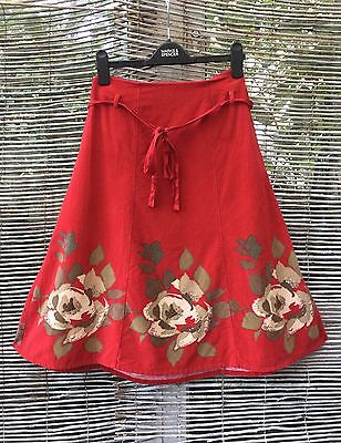 Monsoon Skirt Perfect For Christmas Brushed Cotton Generous 14