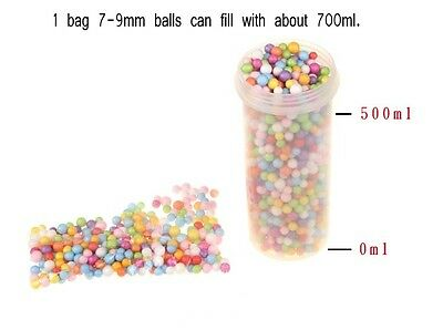1Bag Mini Styrofoam Wishing Bottle Filler Foam Beads Balls Crafts DIY #Gracemoji