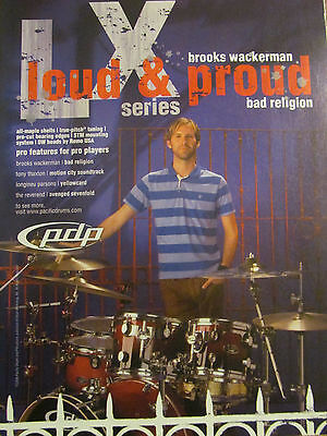 Bad Religion, Brooks Wackerman, PDP Drums, Full Page Promotional Ad