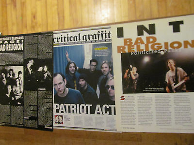 Bad Religion, Lot of THREE Full Page Clippings