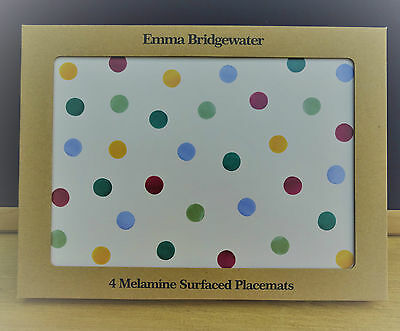 Emma Bridgewater Folk Border Polka Dot  Set of 4 Melamine PLACEMATS