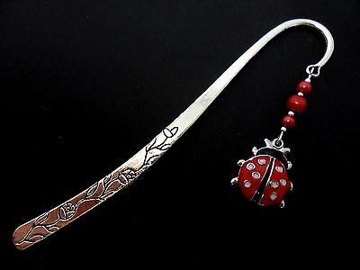 A Tibetan Silver Ladybird And Red Glass  Bead   Bookmark. New.