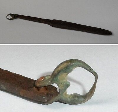 18th Century Hand Forged Flint Striker, Fire Steel Material: iron and bronze.