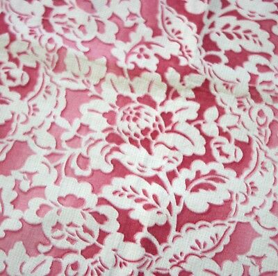 Vintage 1930s's PRINTED LACE French Country Textile....