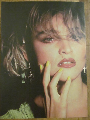 Madonna, Michael J. Fox, Double Full Page Vintage Pinup