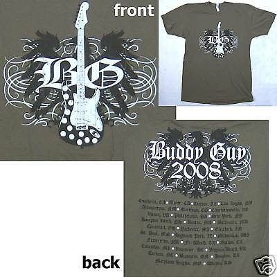 Buddy Guy! 2008 Tour Guitar Army Green T-Shirt Xl X-Large New Official