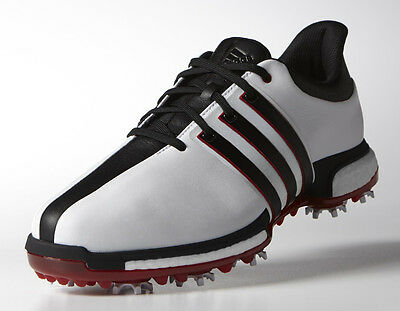 Adidas Tour360 Boost Golf Shoes White/Black/Power Red 11.5 Medium