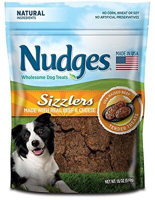 Nudges Sizzlers Dog Treats, Beef  Cheese, 18 Ounce