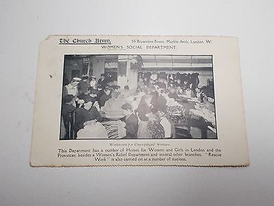 Religion  Postcard The Church Army Womens Social Department Early 1900's